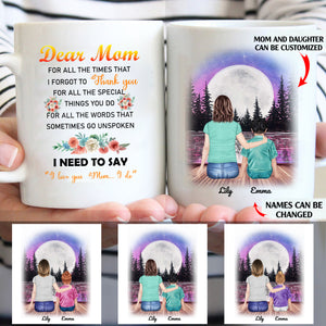 Dear Mom I need to say I do love you custom christmas mugs