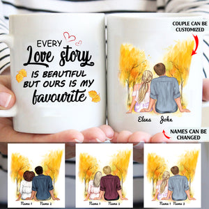 Every love story is beautiful but ours is my favourite personlized couple 11oz White Mug