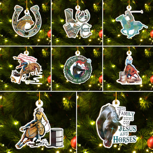 Funny Horses Ornaments Set, Horses Christmas Ornaments Set, Funny Christmas Family Gift Idea For Horse Lover