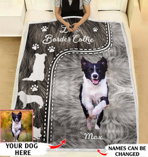 Love Border Collie personalized coffee blanket gifts custom christmas blanket