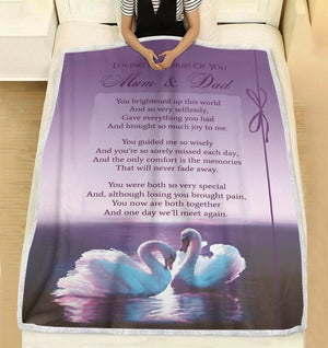 Loving memories of you - You brightened up this world personalized fleece blanket gifts custom christmas blanket