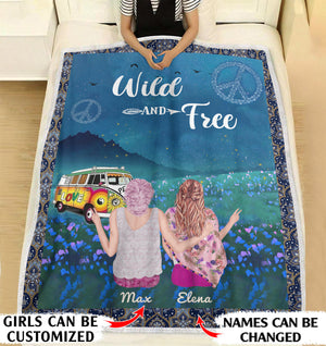 Wild And Free personalized coffee blanket gifts custom christmas blanket