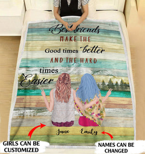 Best friends make the good times better personalized coffee blanket gifts custom christmas blanket