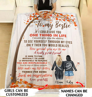 To my bestie Thanks for being such an inspiration personalized coffee blanket gifts custom christmas blanket