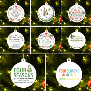 Four Seasons Total Landscaping Ornaments Set, Funny Christmas Ornaments Family Gift Idea