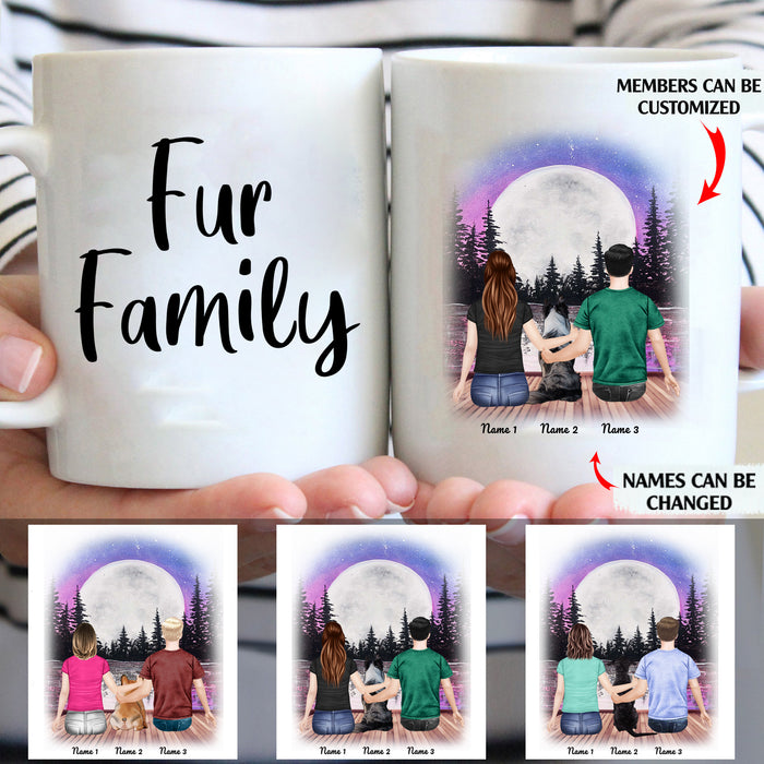 Fur Family Personalized Dog Mom And Dad 11oz White Mug