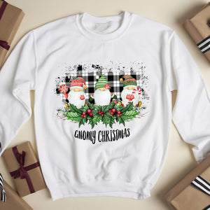 Gnomes funny with Merry Christmas - funny sweatshirt gifts christmas ugly sweater for men and women