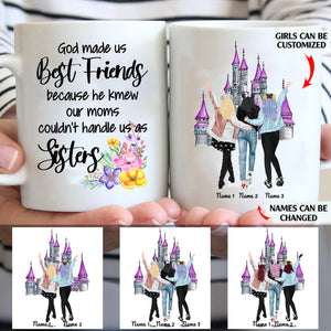 God Made Us Best Friends Personalized Friends 11oz White Mug