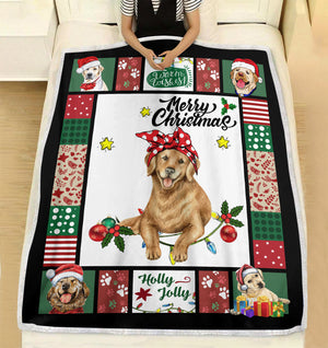 Have a Merry Christmas with your Labrador fleece blanket - Funny Christmas pattern gift unique family gift for dog lover
