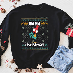 Hei hei christmas chicken funny sweatshirt gifts christmas ugly sweater for men and women