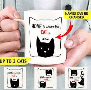 Home are where the cats are personalized cat lovers 11oz White Mug