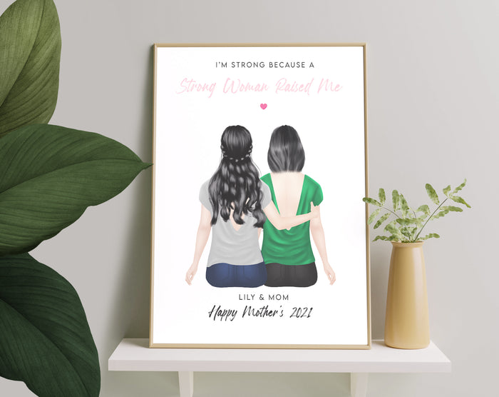 Personalized Picture Best Mother And Daughter Print, Mothers Day Present, Birthday Gift, Personalised Gift For Mothers Day From Daughter, Gift for Mom, Gift For Mum
