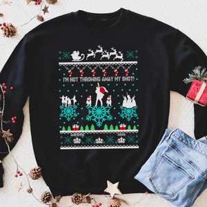 I'm not throwing away my shot! funny sweatshirt gifts christmas ugly sweater for men and women