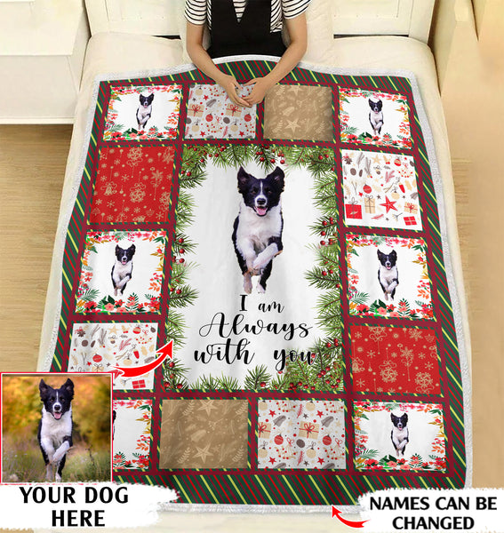 I am always with you personalized coffee blanket gifts custom christmas blanket