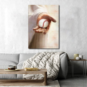 Jesus God Baseball take my hand, Jesus Canvas, Baseball lover Canvas