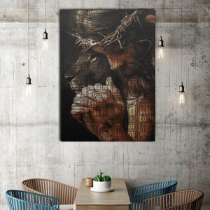 Jesus and Lion Wall-art Canvas, God Canvas