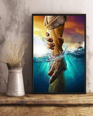 Jesus Savior Canvas, God Reaching Out Canvas