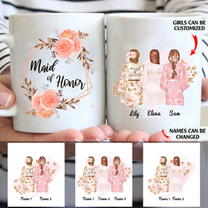 Maid of honor personalized coffee mugs gifts custom christmas mugs