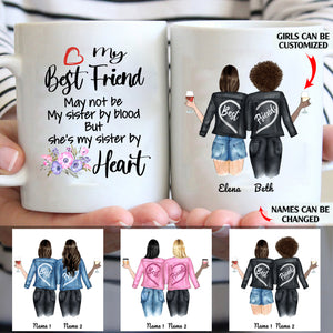 My Best Friend Is My Sister By Heart Personalized Sisters 11oz White Mug