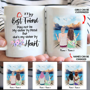 My Best Friend She's My Sister By Heart Personalized Sisters 11oz White Mug