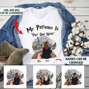 My patronus is my dog personalized Halloween dog mom standard T-shirt