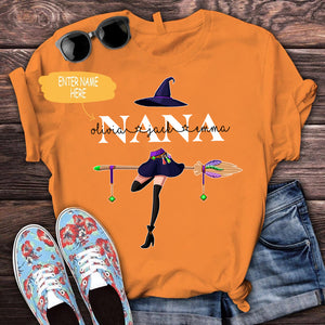 Personalized Halloween grandma grandchildren gift nana standard T-shirt