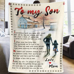 To my Son, I'm so grateful you are my son, Mom to Son, Poem Blanket