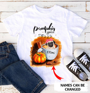 Pumpkin Spice Latte Personalized Halloween Dog Standard T-shirt