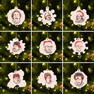 Stay Home Christmas Tree Ornament Set of 9, Quarantined Christmas Eve Alone Ornament, Funny Family Gift Idea