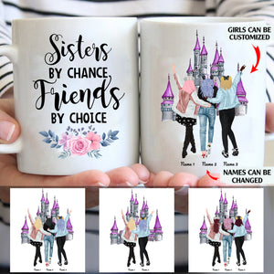 Sisters by chance, friends by choice personalized coffee mugs gifts custom christmas mugs