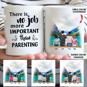 There Is No Job More Important Than Parenting personalized coffee mugs gifts custom christmas mugs