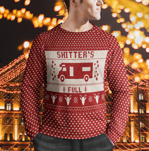 Shitter's Full Christmas Vacation Funny Ugly Christmas Sweater - Funny Merry Christmas family gift idea for men and women