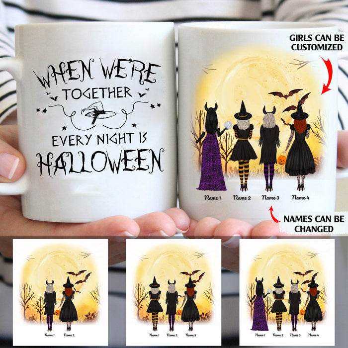 When We're Together Every Night Is Halloween Personalized 11oz White Mug Gift