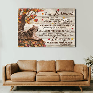 You Are Appreciated Wolves, Husband & Wife Canvas