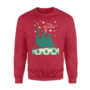 Have a Dino-mite Christmas! funny sweatshirt gifts christmas ugly sweater for men and women