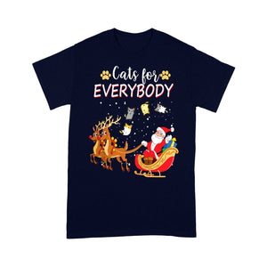Cats For Everybody Funny Christmas Outfit For Cute Cat Lover Tee Shirt Gift Christmas