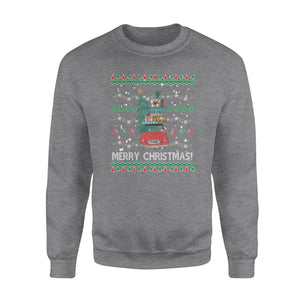 Gnomes bring christmas tree and gift for you - funny sweatshirt gifts christmas ugly sweater for men and women