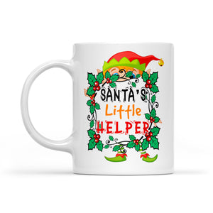Funny Christmas Outfit - Santa's Little Helper  White Mug Gift For Christmas