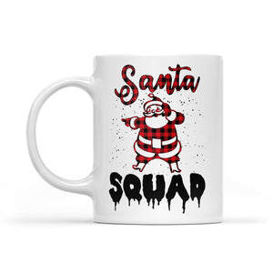 Santa Squad Funny Christmas Knitting Pattern. -   White Mug Gift For Christmas