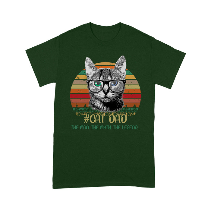 Cat dad The Man The Myth The Legend - Standard T-shirt Tee Shirt Gift For Christmas