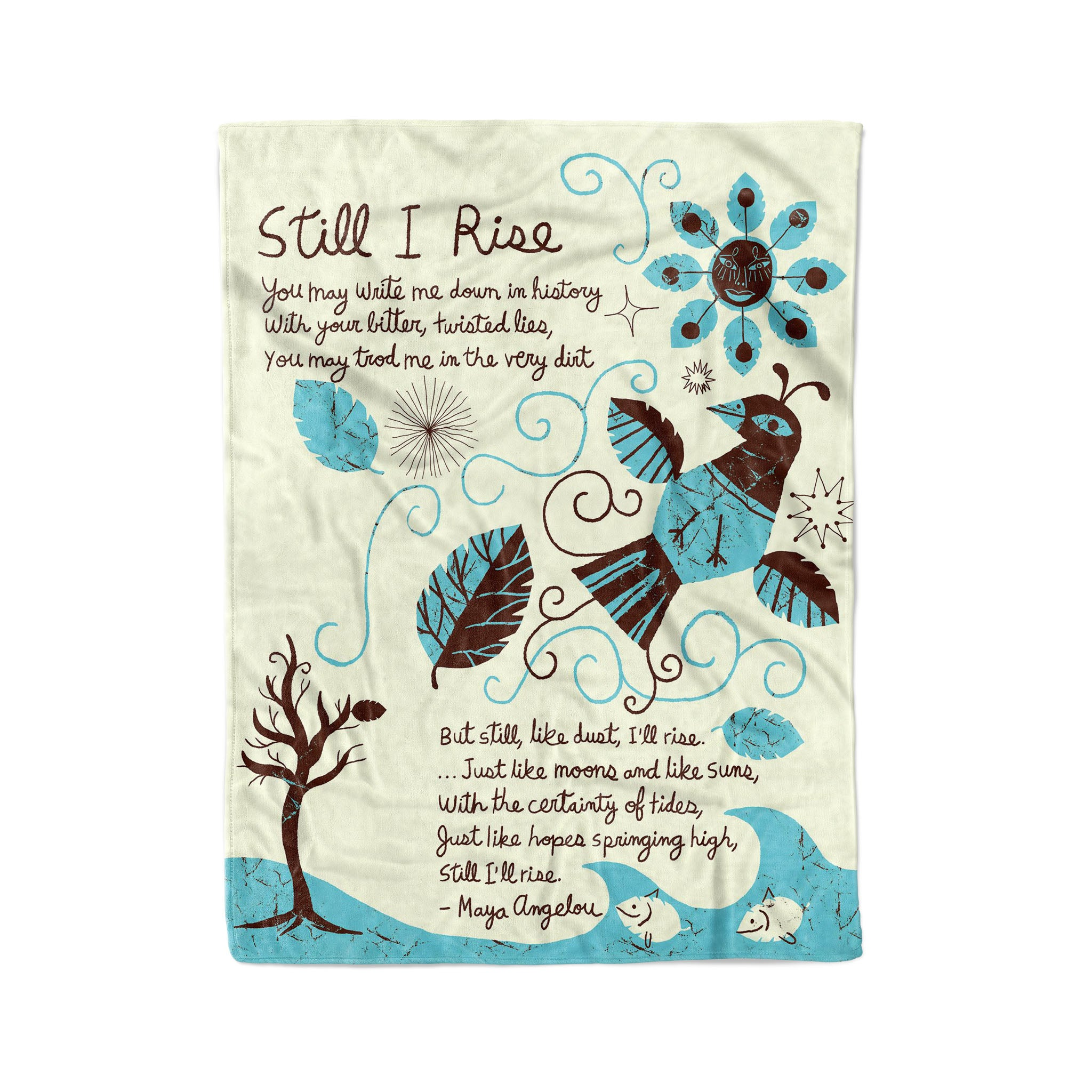Still I rise you may write me down in history fleece blanket gifts christmas family blanket