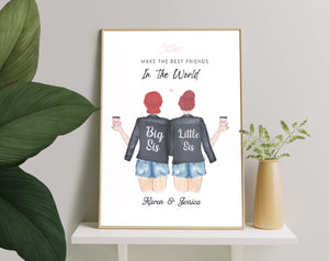 Personalized Picture Perfect Cousin Gift, Personal Cousins Print, Gift for Cousin, Custom Best Friend Gift, Besties Print, Friendship Print, Family Gift, Gift For Her