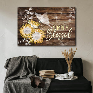 Simply blessed Canvas, Best Gift Idea