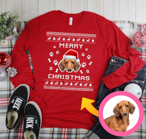 Merry Woofmas Personalized Sweatshirt, Merry Christmas Personalized Dog Sweatshirt, Funny Christmas Sweatshirt Family Gift Idea For Dog Lover