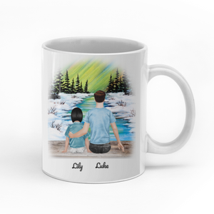 To My Daughter I Will Be Always Be By Your Side Personalized Dad Daughter 11oz White Mug