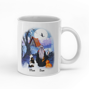 In A World Full Of Witches Be A Cat Mom personalised gift customized mug coffee mugs gifts custom christmas mugs