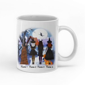 Bewitching together since ever personalized Halloween friends 11oz White Mug