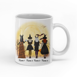 When We're Together Every Night Is Halloween personalized coffee mugs gifts custom christmas mugs