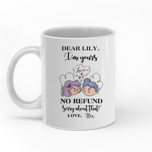 Dear my wife I'm yours personalized coffee mugs gifts custom christmas mugs