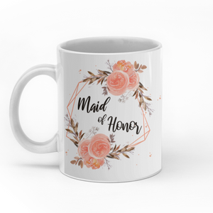 Maid of honor personalized friends wedding 11oz White Mug